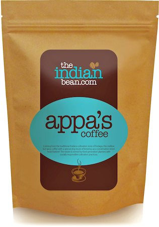 The Indian Bean Appa's 100% Arabica Coffee, Medium Grind 250 gm