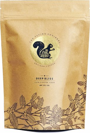 Flying Squirrel Deep Bliss Dark 100% Coffee, Medium Grind 250 gm