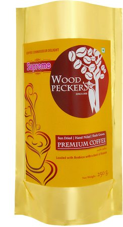 Woodi Peck's Supreme Black Coffee Delight, 100% Pure Coffee Powder, 250 gm