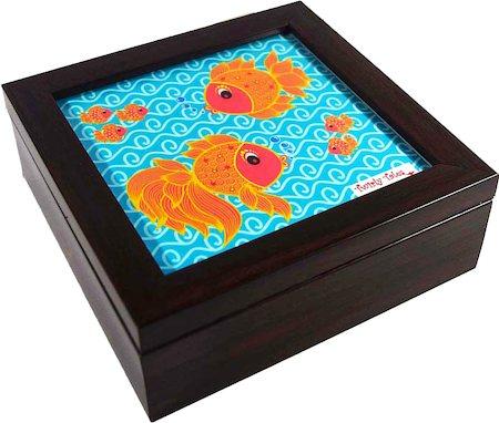 Twirly Tales Fish Series Square Tea Bag Organiser