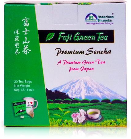 Robertson Shizuoka Japanese Premium Sencha Fuji Geen Tea, Natural (20 Pyramid tea bags)