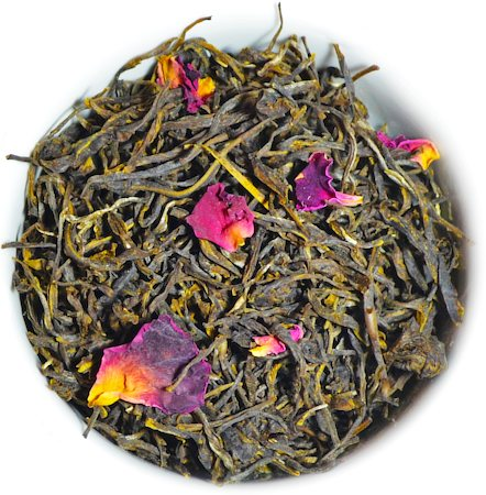 Organic Rose Green Tea, Loose Leaf 100 gm