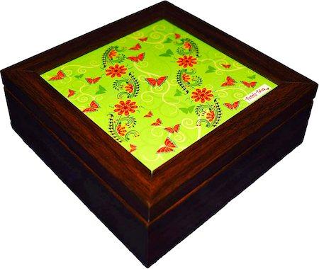 Twirly Tales Floral Series Square Tea Bag Organiser