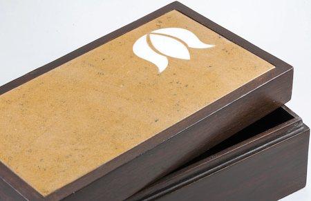 Amalgam Hand-carved Virtuous Lotus Motif Stone Square Box