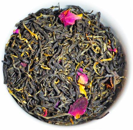 The Tea Shelf Organic Rose Black Tea, Loose Leaf 100 gm