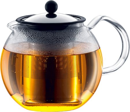 Bodum Assam Tea Press with Stainless Steel Filter and Lid (1.0 L)