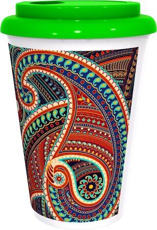 Kolorobia Artistic Persian Paisely Cafe Mug