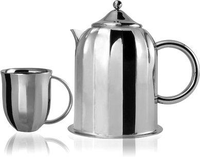 Arttdinox Dome Coffee Pot with 4 Coffee Mugs