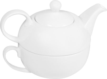 Wilmax ENGLAND Fine Porcelain Tea for One Set (White) - 2 pcs