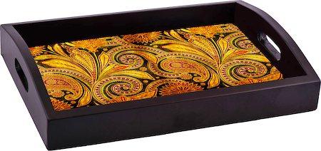 ThinNFat Paisley Art Printed Tray