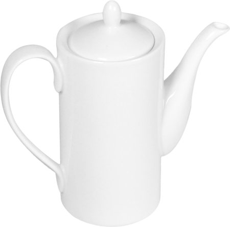 Wilmax ENGLAND Fine Porcelain Coffee Pot, 650 ml (White)