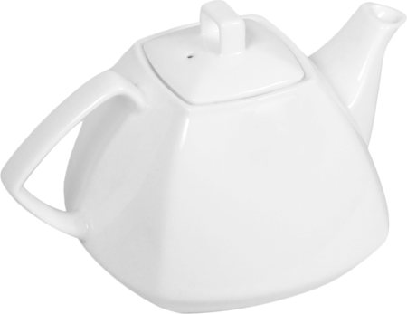 Wilmax ENGLAND Fine Porcelain Tea Pot, 1050 ml (White)