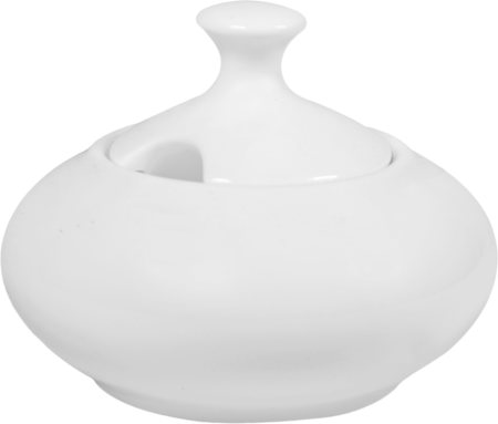Wilmax ENGLAND Fine Porcelain Sugar Bowl, 250 ml (White)