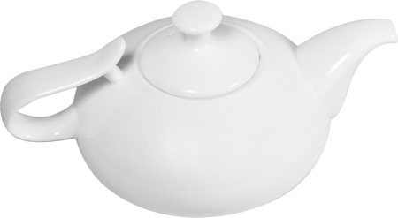 Wilmax ENGLAND Fine Porcelain Tea Pot, 450 ml (White)