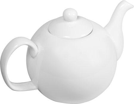 Wilmax ENGLAND Fine Porcelain Tea Pot, 1100 ml (White)
