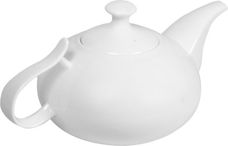 Wilmax ENGLAND Fine Porcelain Tea Pot, 1750 ml (White)