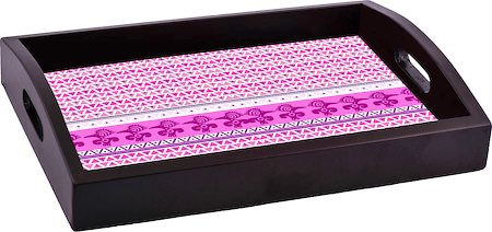 ThinNFat Pink Pigeon Tribal Printed Tray