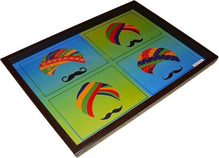 Twirly Tales Turban Series Rectangular Tray