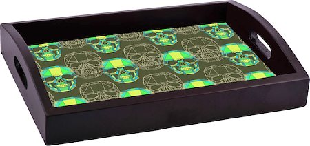 ThinNFat Wireframe Skull Printed Tray