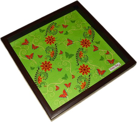 Twirly Tales Floral Series Square Tray