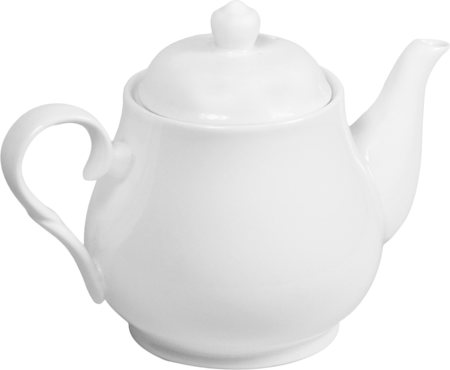 Wilmax ENGLAND Fine Porcelain Tea Pot, 1150 ml (White)
