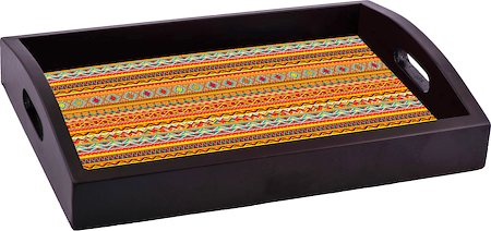 ThinNFat African Art Printed Tray
