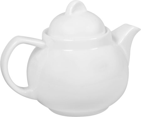 Wilmax ENGLAND Fine Porcelain Tea Pot, 420 ml (White)