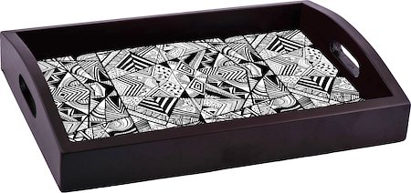 ThinNFat Geometric Pattern Printed Tray