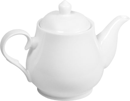 Wilmax ENGLAND Fine Porcelain Tea Pot, 850 ml (White)
