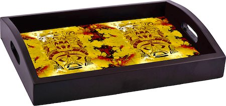 ThinNFat African Pattern Printed Tray
