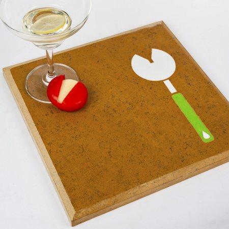 Amalgam Hand-carved Kitchenette Motif Stone Table Placemat - Design 3
