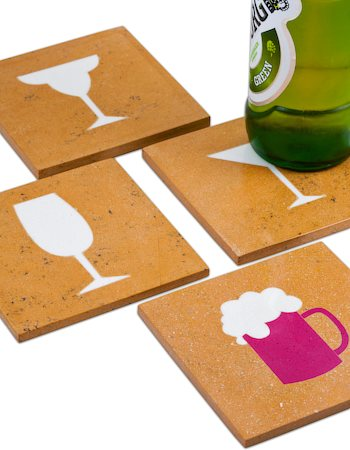 Amalgam Hand-crafted Sommeliers Collection Stone Coasters - set of 4