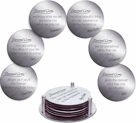Hot Muggs Anti-slip Personal Gems Message Coasters