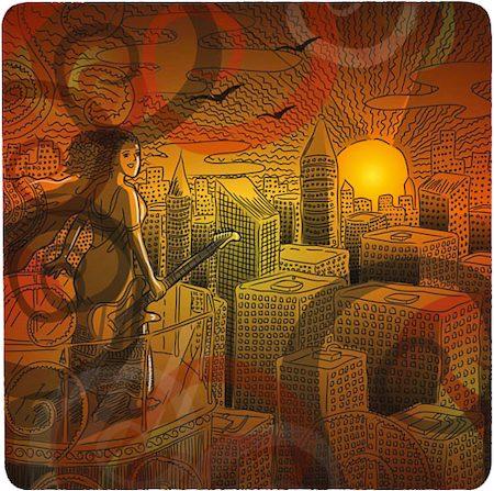 Posterboy Charbak Urban Bhairavi Coasters - set of 4