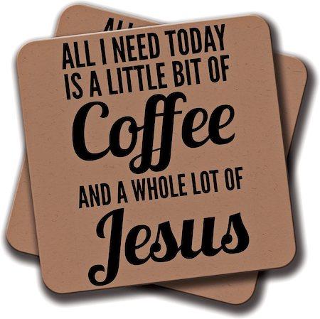 Amey Coffee and Jesus Coasters - set of 2