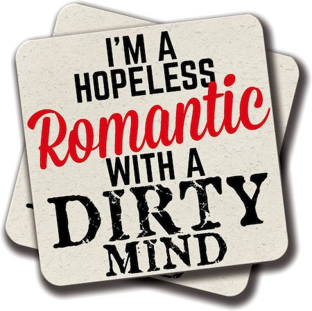 Amey Hopeless Romantic Coasters - set of 2