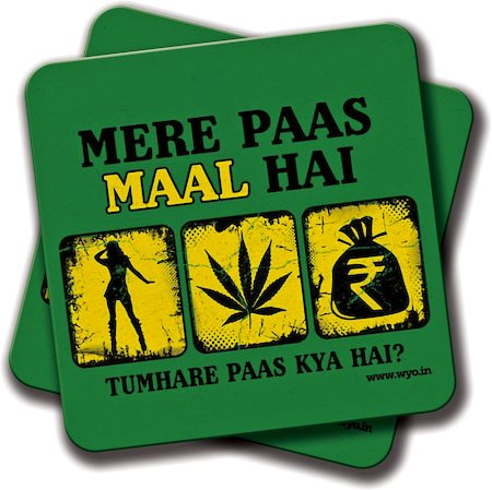 Amey Mere Paas Stuff Hai Coasters - set of 2