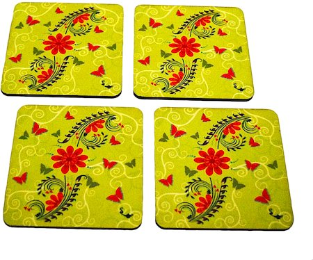 Twirly Tales Floral Series Coasters - set of 4