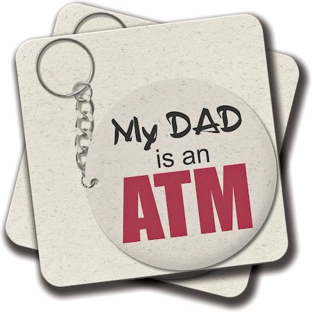 Amey My Dad is an ATM Coasters - set of 2