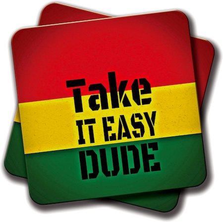 Amey Take it Easy Coasters - set of 2