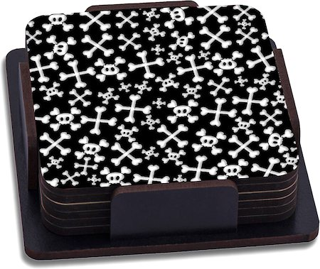 ThinNFat Skull Candy Printed Coasters - set of 6