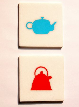 Amalgam Hand-crafted I am a Little Teapot White Marble Coasters - set of 4