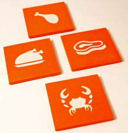 Amalgam Hand-crafted Gourmet Collection Stone Coasters - set of 4