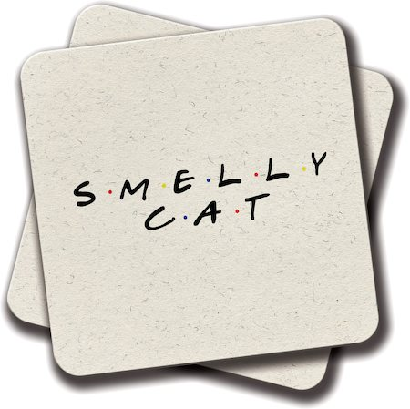 Amey Friends - Smelly Cat Coasters - set of 2