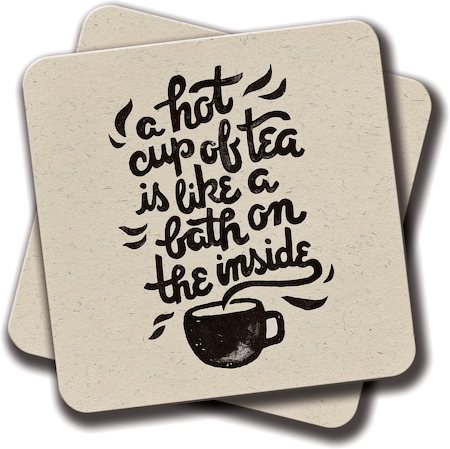 Amey A Hot Cup of Tea Coasters - set of 2