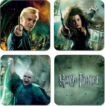 Warner Brothers Harry Potter Characters II Coasters - set of 4