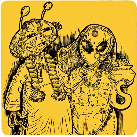 Posterboy Charbak Alien Babu Coasters - set of 4