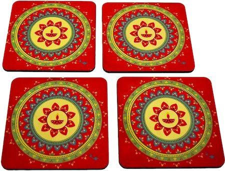 Twirly Tales Festive Diya Series Coasters - set of 4