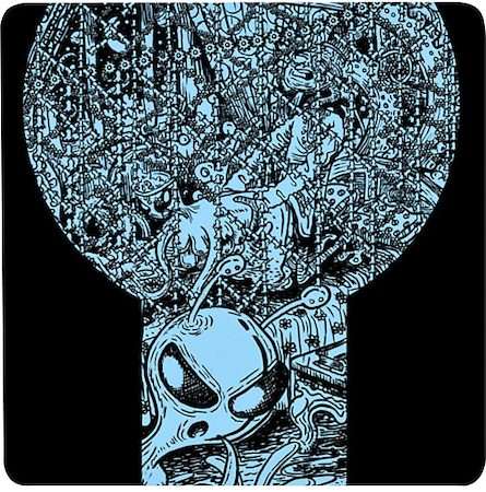 Posterboy Charbak Alien Night Coasters - set of 4
