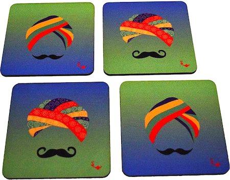Twirly Tales Turban Series Coasters - set of 4